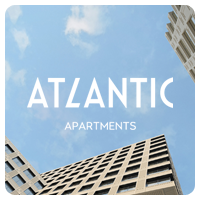 Брендирование страницы для Atlantic Apartments.