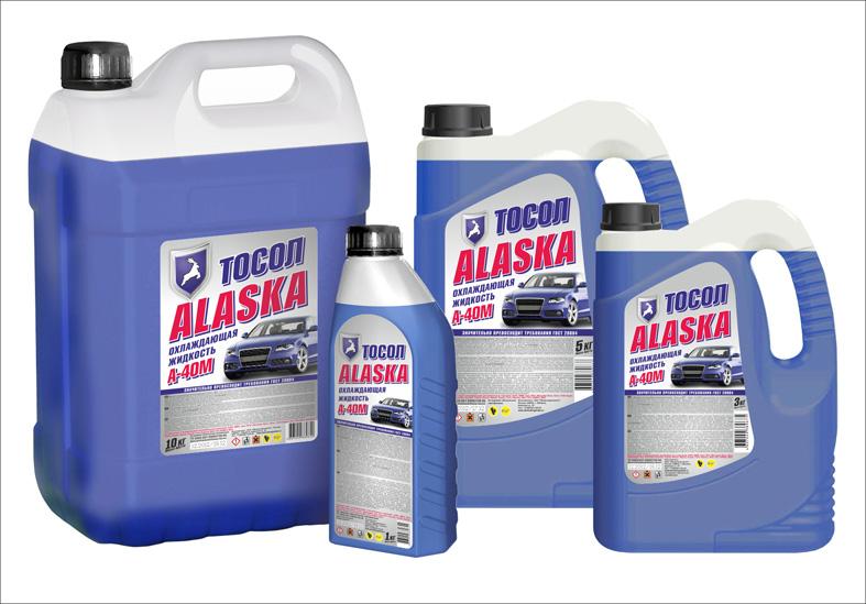 Дизайн серии этикеток для тосола Аляска