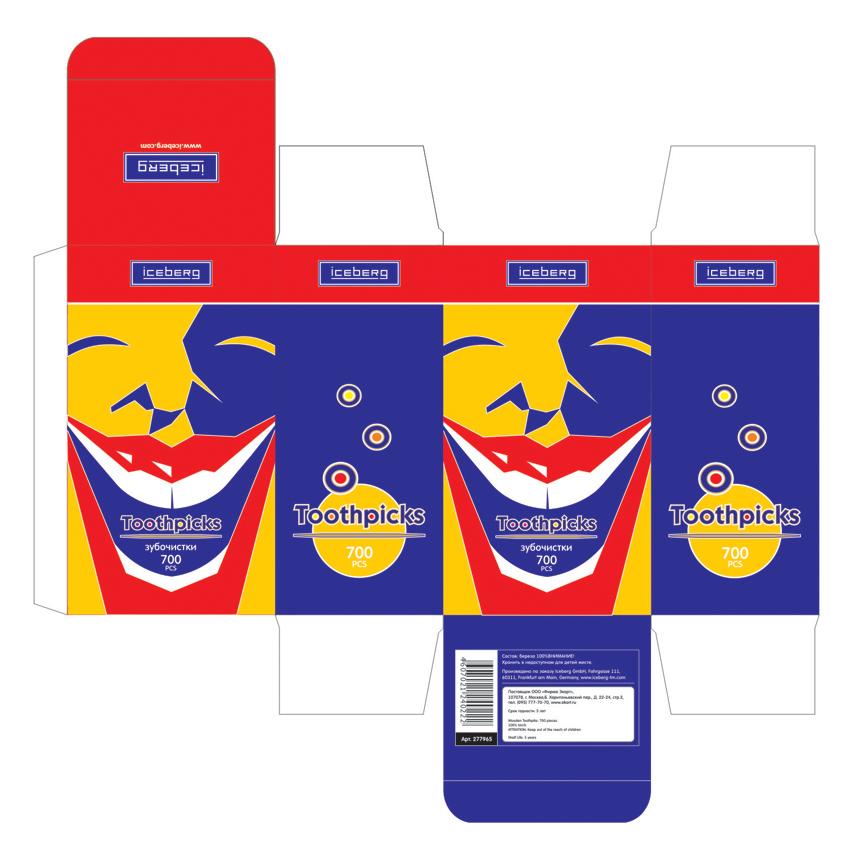 """Упаковка для зубочисток """"Toothpiсks"""