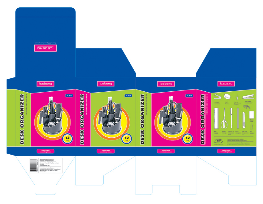 Упаковка для настольных органайзеров