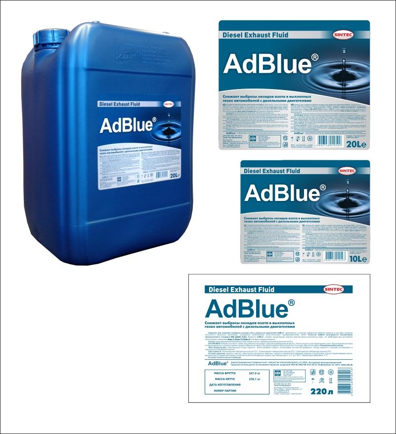 Дизайн этикеток на канистру и бочку для AdBlue (присадка топливная)