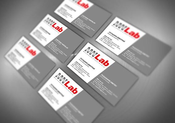 Визитки для ООО СВЧ Лаб