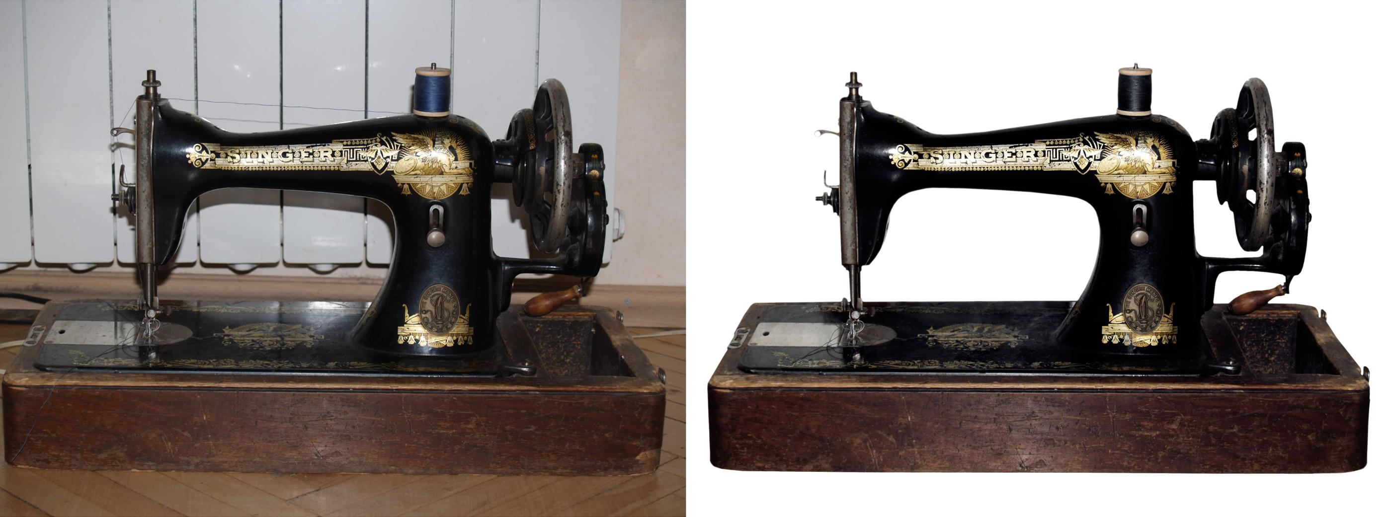 Обтравка (удаление фона) швейная машина