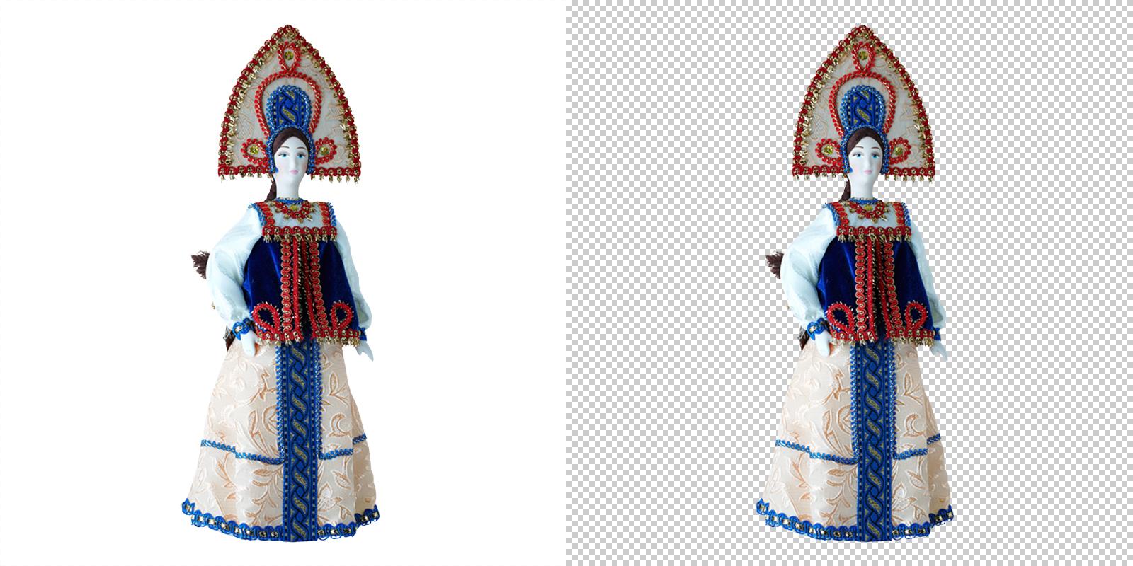 Обтравка (удаление фона) кукла