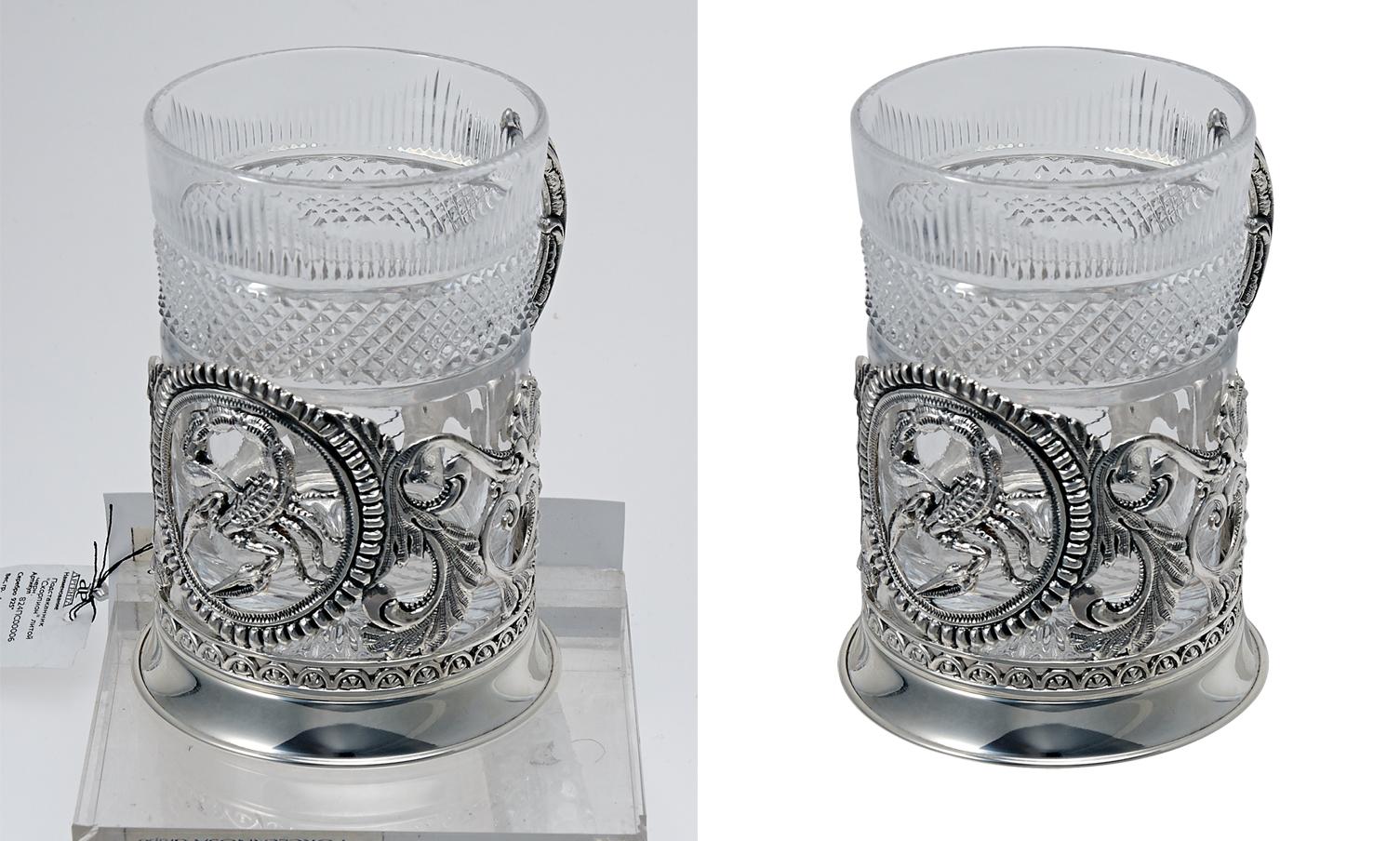 Обтравка (удаление фона) стакан