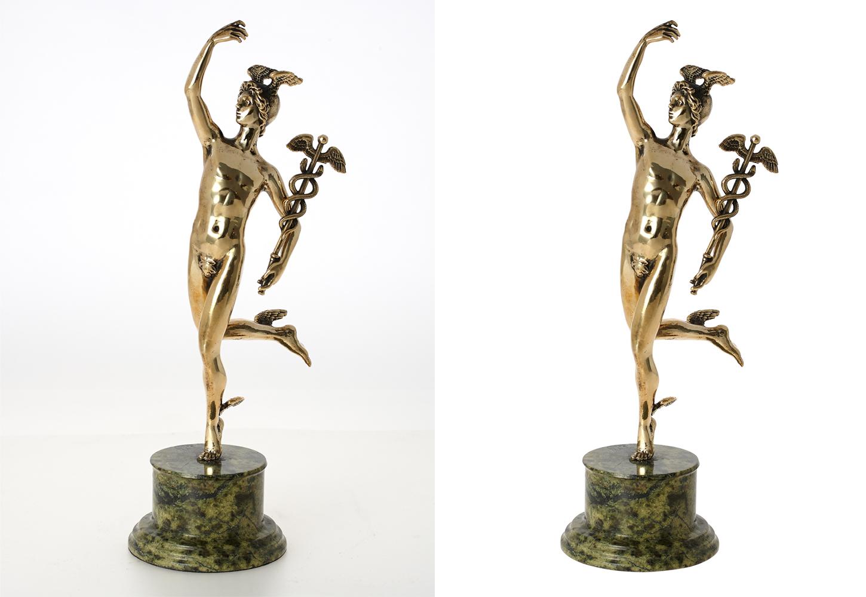 Обтравка (удаление фона) статуэтка