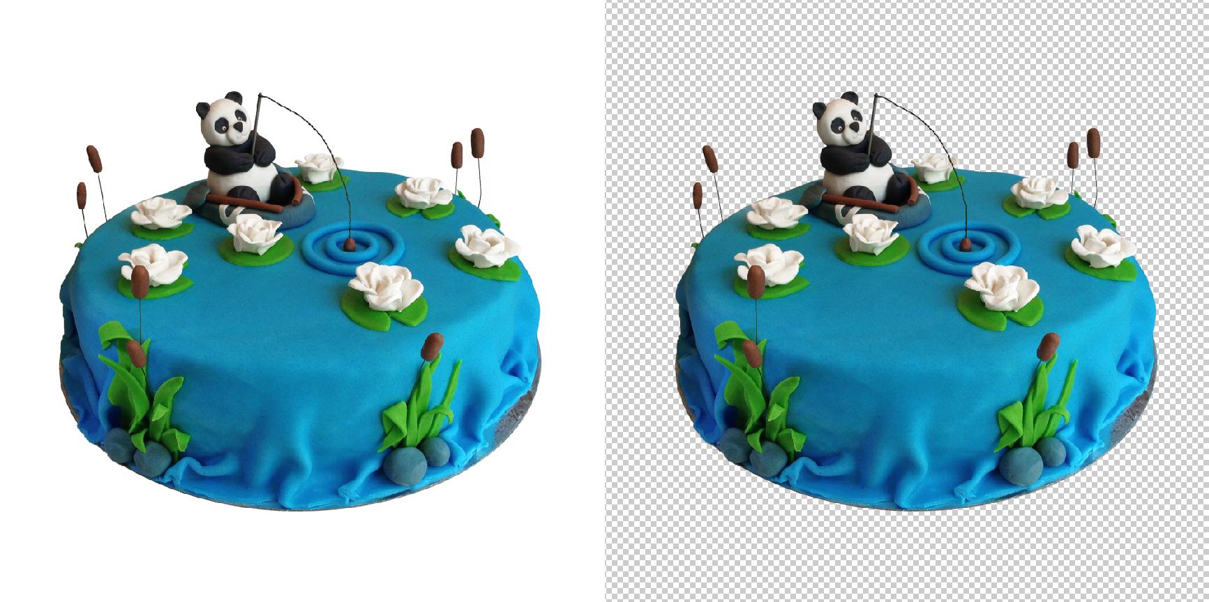 Обтравка (удаление фона) торт