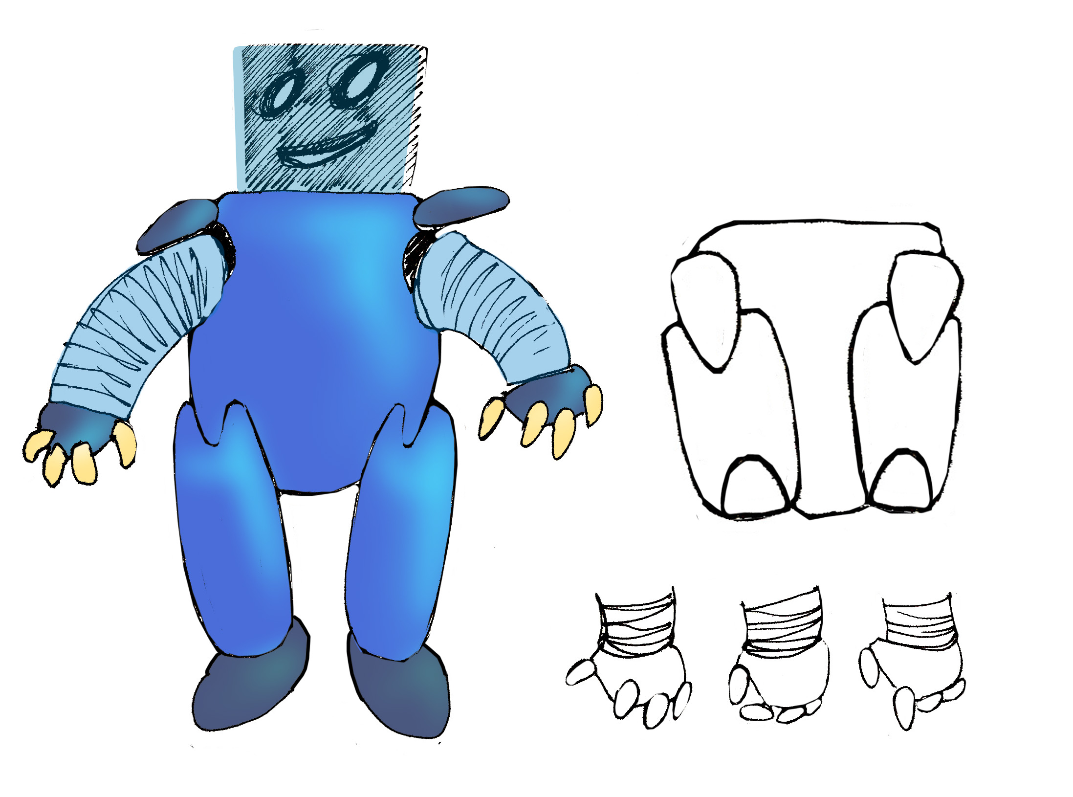"""Модель Робота - Ребёнка """"Роботёнок"""" фото f_4b4f4abfd0da7.jpg"""