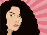 Векторный портрет pop-art по фото