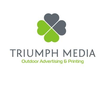 Разработка логотипа  TRIUMPH MEDIA с изображением клевера фото f_506fec3c3663a.jpg