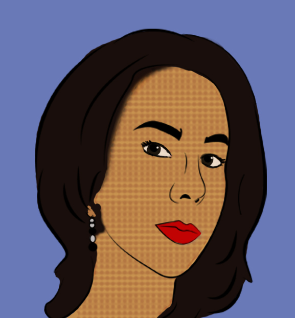 портрет девушки стиль комикс