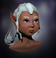 3D персонаж эльф