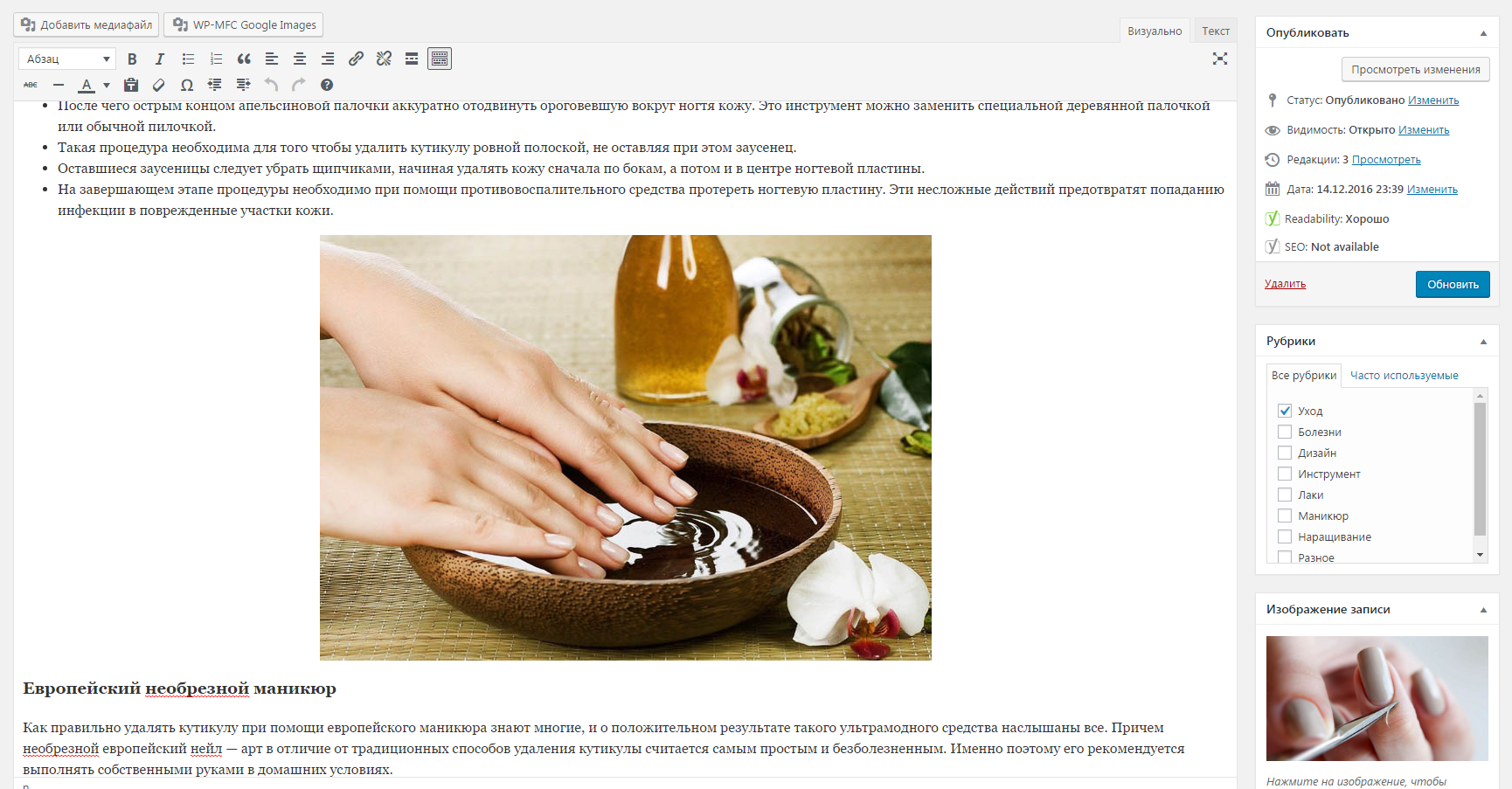 Контент-менеджер сайта  (CMS WordPress)