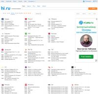 Натяжка вёрстки и доработка tv.hi.ru