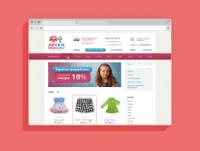 «Детки модники» — верстка + разработка на «MODx»