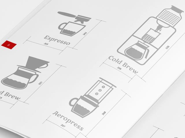 Пиктограммы для сети кофемагазинов «Кафема» (2013 г.)