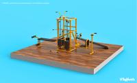 Визуализация CAD-модели спортивного тренажёра