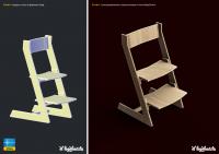 Визуализация CAD-модели деревянного стула