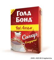 Акционная промо-пачка чая ТМ Gold Bond «Сахар в подарок»
