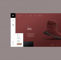 "Ботинки ""Timberland"" / Магазин (Проектирование. Дизайн - Figma)"