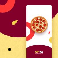 """Доставка еды / Приложение """"Аппетит"""" (UX/UI Дизайн - Figma, Фирменный стиль, Логотип)"""