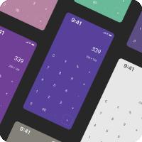 "Приложение ""Калькулятор"" / Интерфейс (Дизайн - Figma)"
