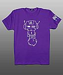 Принт на футболку космонавтик на фиолетовом