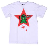Принт на футболку лягушонок в звездочке на белом
