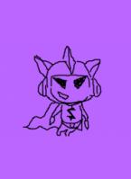 Компьютерная графика фиолетовый бетмен