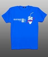Принт на футболку сердце на синем