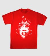 Принт на футболку африканка на красном