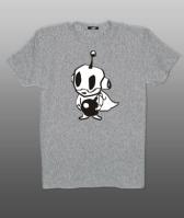 Принт на футболку инопланетянин черно-белый