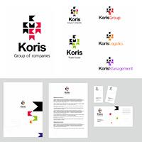 """Koris Group of Companies"" - логотип и фирменный стиль"