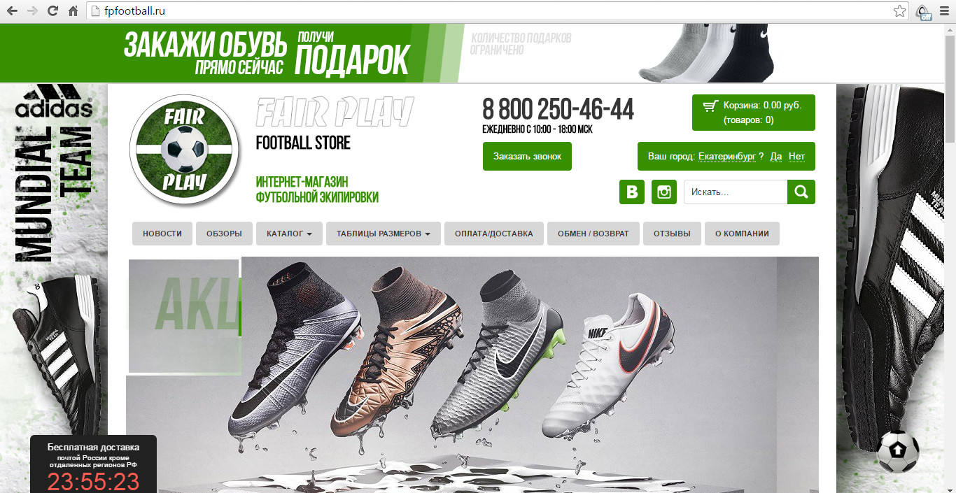 Рекламные кампании в Яндекс Директ и Google AdWords. Тематика: интернет-магазин спортивной экипировки.