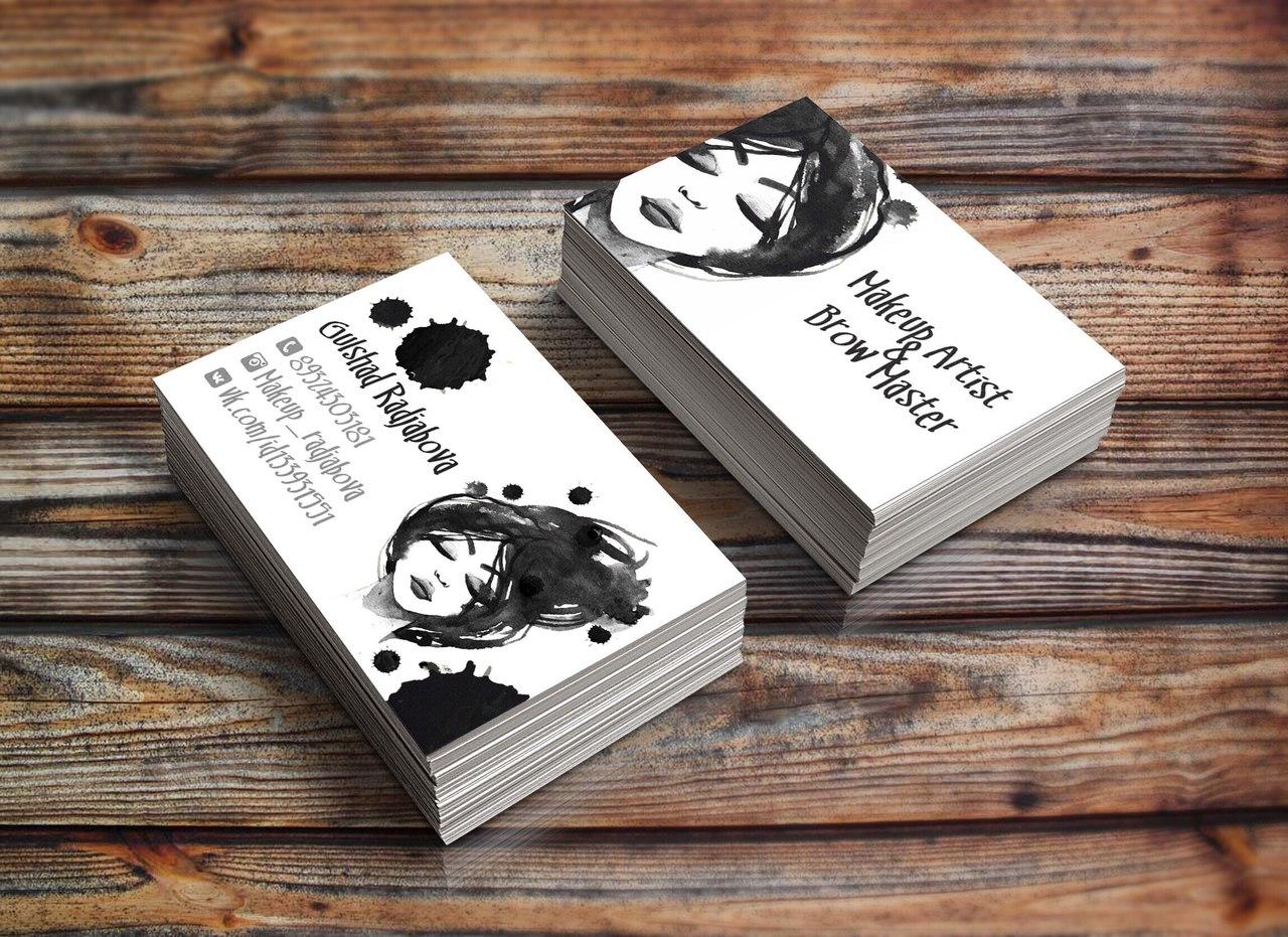 Логотип и визитки студия Макияжа