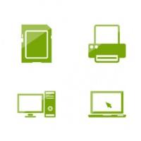 Набор зеленых иконок