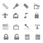Набор серых иконок