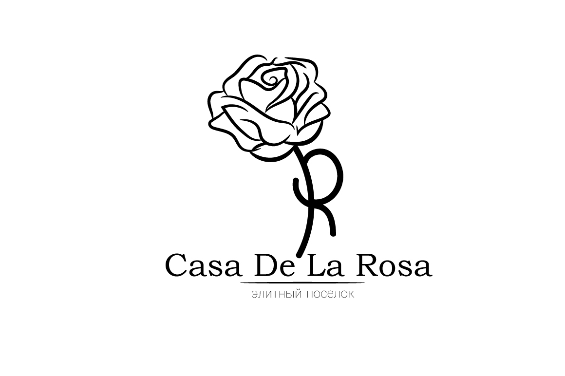 Логотип + Фирменный знак для элитного поселка Casa De La Rosa фото f_0055cd5a2177813c.jpg