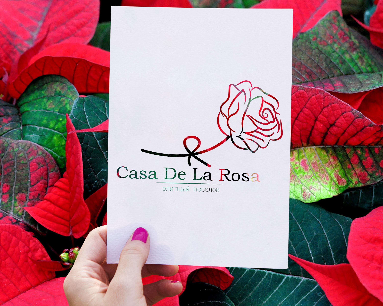Логотип + Фирменный знак для элитного поселка Casa De La Rosa фото f_1465cd5a2130f279.jpg