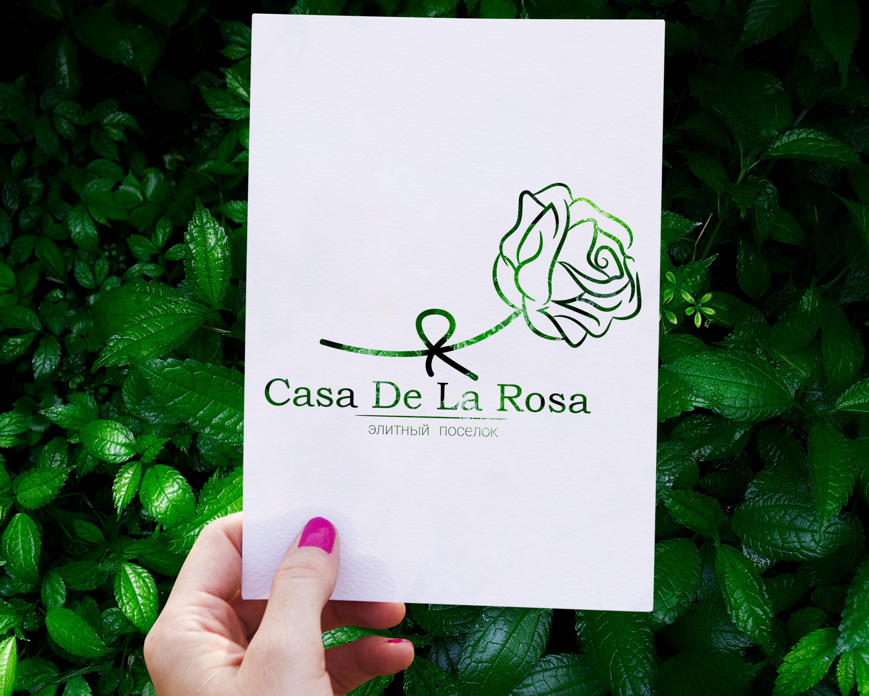 Логотип + Фирменный знак для элитного поселка Casa De La Rosa фото f_8765cd5a22e5637f.jpg