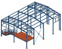 Здание 10х14х5м (Готовый проект КМ, КМД - 10 000 рублей)