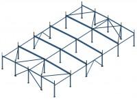 Здание 18х30х3.5м (Готовый проект КМ, КМД - 10 000 рублей)