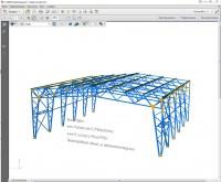 3Д модель каркаса здания