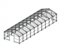 Здание 12х40х4.5м (Готовый проект КМ, КМД - 40 000 рублей)*