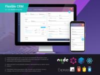 """CRM система """"Flexible CRM"""" React+Node.js"""