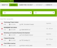 Сайт для размещения вакансий vakansiya.az