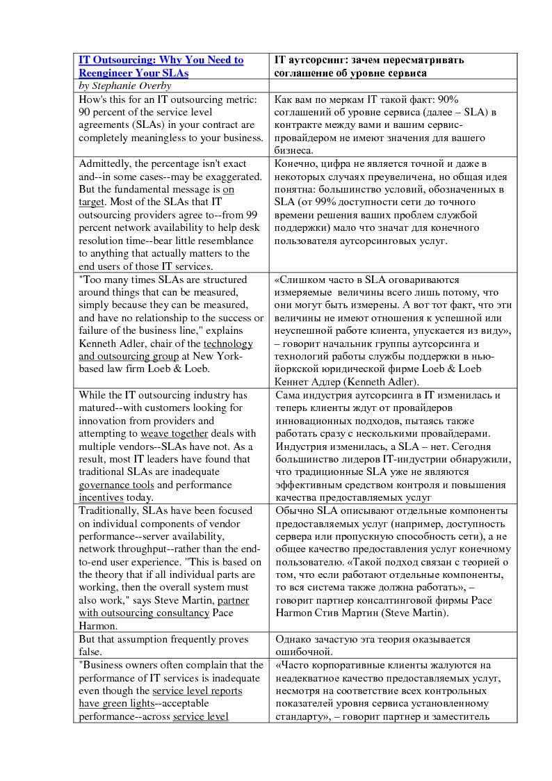 EN->RU: IT аутсорсинг и виртуализация