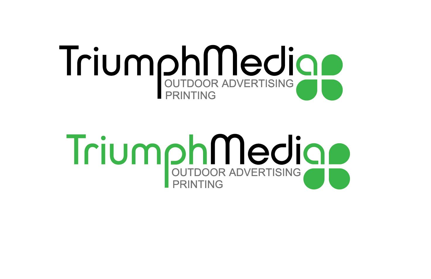 Разработка логотипа  TRIUMPH MEDIA с изображением клевера фото f_507290839f223.jpg