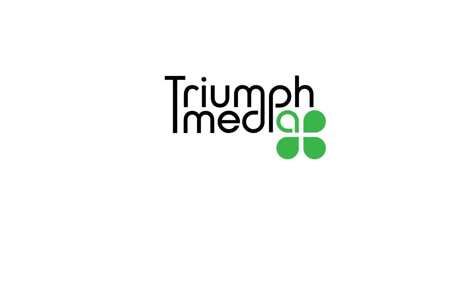 Разработка логотипа  TRIUMPH MEDIA с изображением клевера фото f_507293ec928c0.jpg