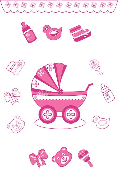 Контурные иконки-иллюстрации детские